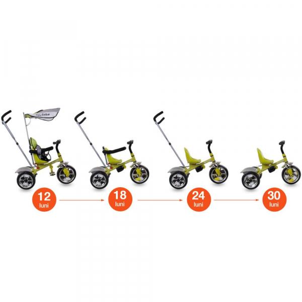 Tricicleta Super Trike - Sun Baby - Verde 5
