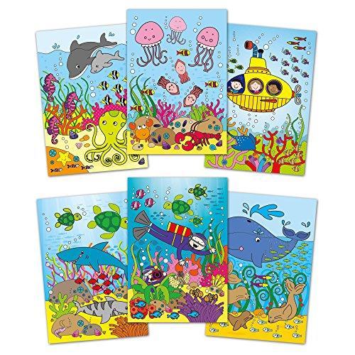 Water Magic: Carte de colorat Lumea acvatica 1