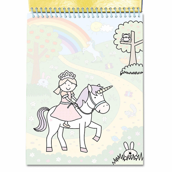 Water Magic: Carte de colorat Unicorni 3
