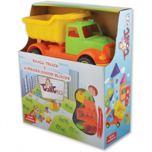 Autobasculanta 30 cm cu 36 piese constructie Ucar Toys UC1034