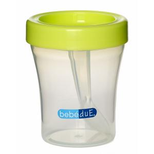 Biberon din silicon 120 ml cu lingurita BebeduE 801681