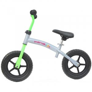 Bicicleta fara pedale transformabila 12 inch - Mamakids - Gri cu Verde [4]