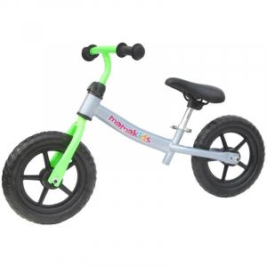 Bicicleta fara pedale transformabila 12 inch - Mamakids - Gri cu Verde [0]