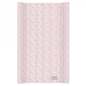 Blat de Infasat  cu intaritura Ceba Baby 50x70 cm, Cable Stitch Pastel Collection, Roz0