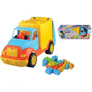Camion pentru gunoi 48 cm cu 38 piese constructie Ucar Toys UC861