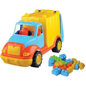 Camion pentru gunoi 48 cm cu 38 piese constructie Ucar Toys UC860
