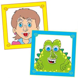 Carte cu abtibilduri Funny Faces1