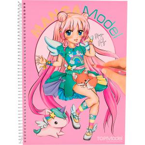 Carte de colorat + stickere Manga Model Depesche PT65810