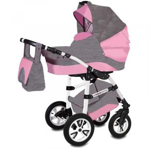 Carucior Flamingo Easy Drive 3 in 1 - Vessanti - Gray/Pink0