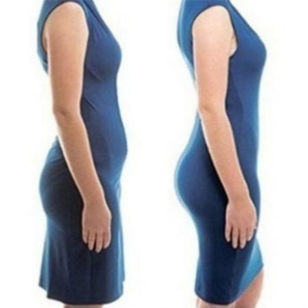 Chilot tanga modelator 2 in 1 postnatal cu talie inalta Brown Rose Girl3