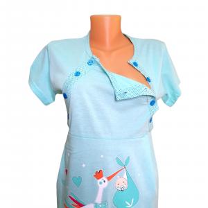 Compleu maternitate, Camasa alaptat + Halat gravide, Maneca lunga,Hello Baby Green BBP [4]