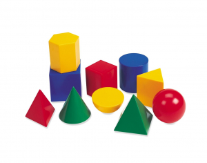 Corpuri geometrice din plastic - 10 piese [0]