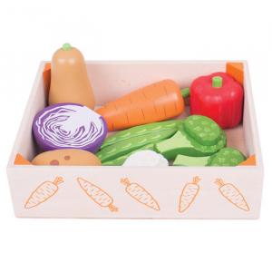 Cutiuta cu legume din lemn2