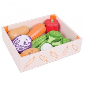 Cutiuta cu legume din lemn1