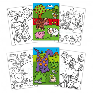 Early Activities: Prima carte de colorat cu abtibilduri0