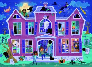 Magic Puzzle - Casa bantuita (50 piese)2
