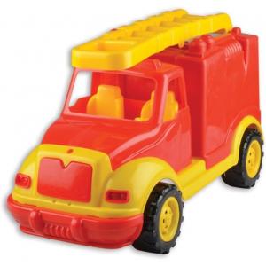 Masina pompieri 43 cm cu 38 piese constructie, in cutie Ucar Toys UC852