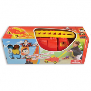 Masina pompieri 43 cm cu 38 piese constructie, in cutie Ucar Toys UC853