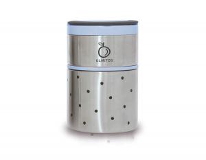 Olmitos - Termos mancare solida cu doua recipiente independente 250+570 ml bleu