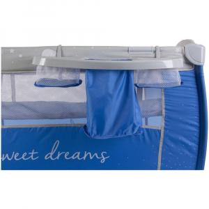 Patut Pliabil cu Sistem de Leganare Sweet Dreams - Sun Baby - Albastru [8]