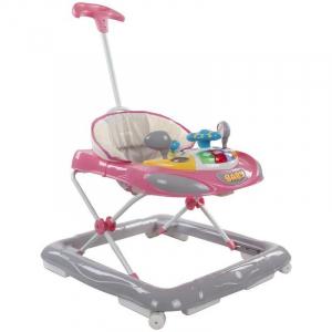 Premergator cu control parental Super Car - Sun Baby - Roz cu Gri [0]