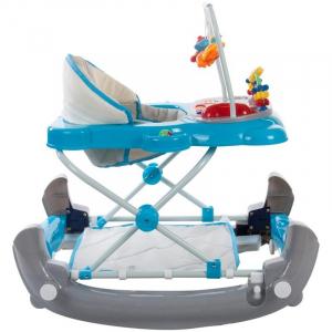 Premergator Pisicuta cu sistem de balansare - Sun Baby - Albastru cu Gri2