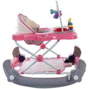 Premergator Pisicuta cu sistem de balansare - Sun Baby - Roz cu Gri2