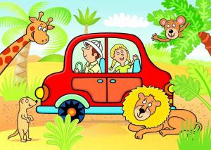 Puzzle de podea - Safari (24 piese)1