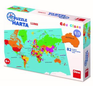 Puzzle geografic - Harta Lumii (82 piese)2