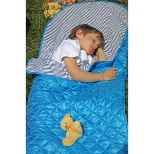 Sac de dormit pentru calatorii cu ursulet de plus inclus Tuloko TL0042