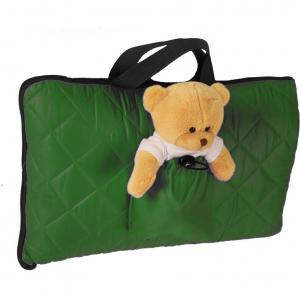 Sac de dormit pentru calatorii cu ursulet de plus inclus Tuloko TL0040