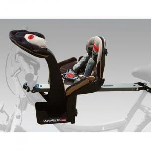 Scaun de bicicleta Deluxe si Casca protectie Flames Negru WeeRide WR03N2