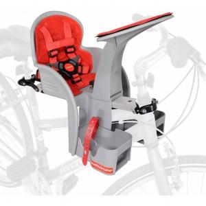 Scaun de bicicleta SafeFront Clasic 2018 si Casca protectie Flames Negru WeeRide WR09N3