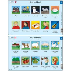 Set 10 Puzzle-uri Read and Look 11 -20 (EN), 10 piese Larsen LRRA60