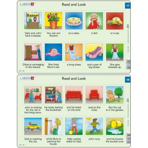 Set 10 Puzzle-uri Read and Look 11 -20 (EN), 10 piese Larsen LRRA63