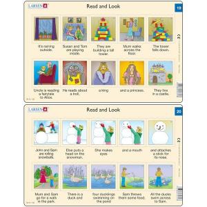 Set 10 Puzzle-uri Read and Look 11 -20 (EN), 10 piese Larsen LRRA64