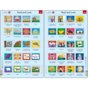 Set 10 Puzzle-uri Read and Look 21 -30 (EN), 10 piese Larsen LRRA110