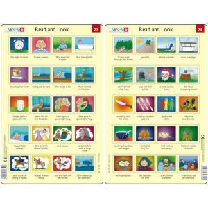 Set 10 Puzzle-uri Read and Look 21 -30 (EN), 10 piese Larsen LRRA111