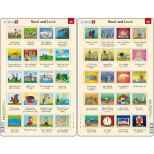 Set 10 Puzzle-uri Read and Look 21 -30 (EN), 10 piese Larsen LRRA112