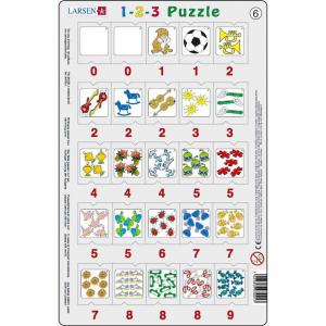 Set 12 Puzzle-uri 1-2-3, 25 Piese Larsen LRP466