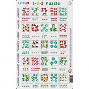 Set 12 Puzzle-uri 1-2-3, 25 Piese Larsen LRP463