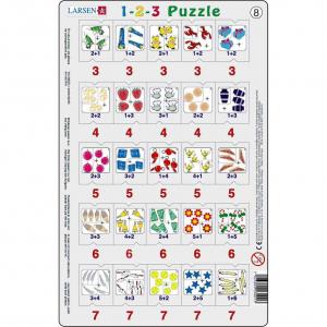 Set 12 Puzzle-uri 1-2-3, 25 Piese Larsen LRP468