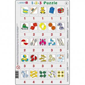 Set 12 Puzzle-uri 1-2-3, 25 Piese Larsen LRP464