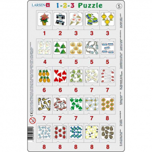 Set 12 Puzzle-uri 1-2-3, 25 Piese Larsen LRP465