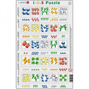 Set 12 Puzzle-uri 1-2-3, 25 Piese Larsen LRP462