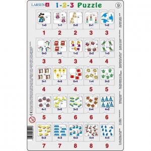 Set 12 Puzzle-uri 1-2-3, 25 Piese Larsen LRP469