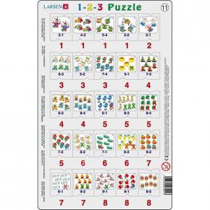 Set 12 Puzzle-uri 1-2-3, 25 Piese Larsen LRP4611