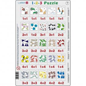 Set 12 Puzzle-uri 1-2-3, 25 Piese Larsen LRP467