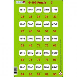 Set 16 Puzzle-uri 0 - 100, 25 Piese Larsen LRP483