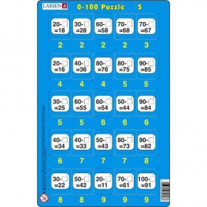 Set 16 Puzzle-uri 0 - 100, 25 Piese Larsen LRP485